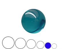 Jac Products Sky Blue Translucent 70mm Acrylic Contact Ball